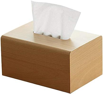 Caja de madera Contenedor Rectángulo Portapapeles facial Porta ...