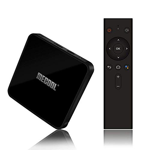 Android 9.0 TV Box with Voice Remote, MECOOL Google Certificated Smart TV Box with Amlogic S905X2 Quad-Core, 4GB RAM 64GB ROM, Support 4K Full HD BT 4.1, Not Compatible Netflix HD″ Video