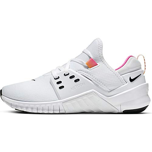 Nike Women's Free Metcon 2 Training Shoe White/Black/Laser Fuchsia Size 8.5 M US