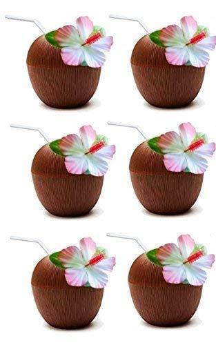 Aufblasbare Palme mit Kokosnüssen für Hawaii-Hula-Tiki-Party-Dekoration Aufblastiere