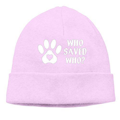 (Who Rescued Who Paw Men/Women Hip-hop Hat Beanie Knitted Cap)