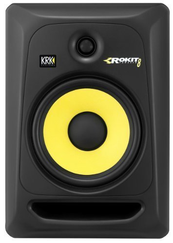 KRK RP8-G3 Rokit Active 8'' Inch Studio Reference Monitor - Latest Gen With Updated Bi-Amped Class A/B Amplifier For Higher Performance at Lower Distortion by KRK