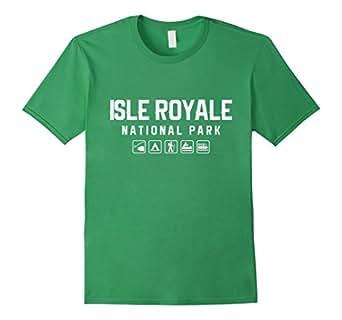 Mens Isle Royale National Park Icon T-shirt 2XL Grass