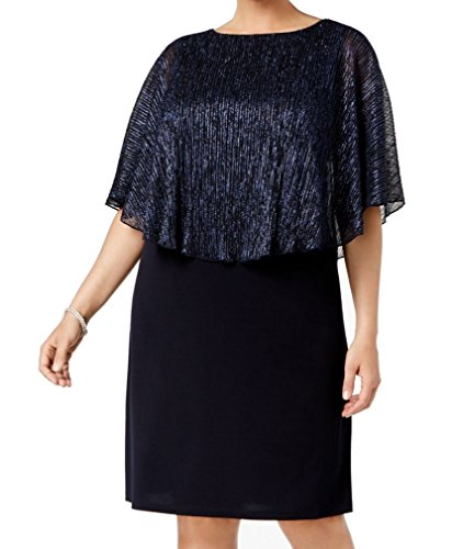 Vestito Collegati Metallici Occasione Blu Capo Donne Maniche Abbigliamento Più Speciale 71n8xOH