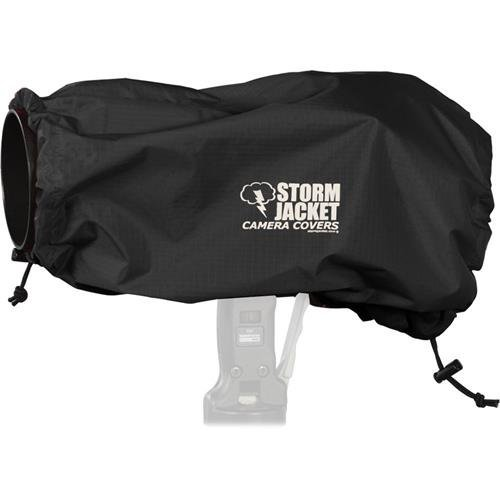 Vortex Media Pro Storm Jacket Cover for an SLR Camera with a Large Lens Measuring 14'' to 23'' from Rear of Body to Front of Lens, Color: Black by Vortex