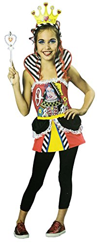 White Queen Costumes From Alice In Wonderland (Totally Ghoul Queen of Hearts Costume, Girl's Size Large, 10-12, ages 8+)