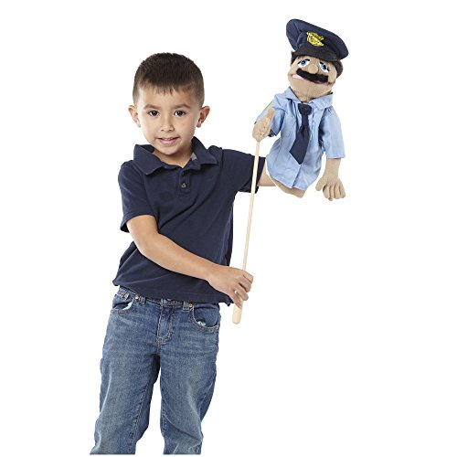 Melissa Amp Doug Police Officer Puppet Detachable Wooden