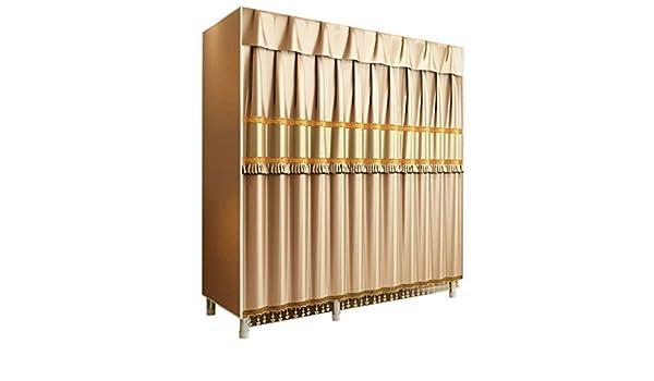 DPLQX Armario Ropero Tela Grande, Closet Organizador Ropero Portátil Organizador Textil con No Tejida Ahorra Espacio Duradera,Gold_130 x 50 x 172cm: Amazon.es: Hogar