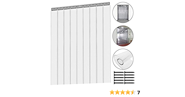 HYJ New Clear PVC Strip Door Curtain Seal Magnets Close Automaticlly for Freezer Doors Workshop,40cm Width ,2mm Thick-40200cm 40//195cm1677inch