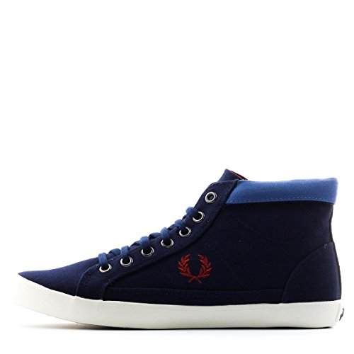 Fred Perry Femme Riley Toile Bleu 10 Baskets