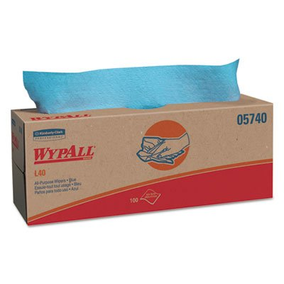 (L40 Towels, Pop-Up Box, Blue, 16 2/5 X 9 4/5, 100/box, 9 Boxes/Carton)