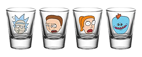 Gb Eye Ltd Rick And Morty, Faces, Shot Glasses, Various by RICK AND MORTY