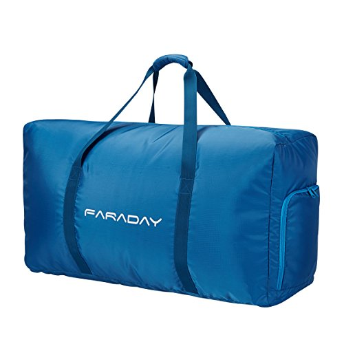 Foldable Duffle Bag 120L with Extra Large and Lightweight for Luggage Gym Sports (Blue)