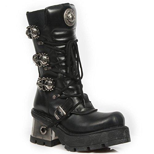 New Rock Boots M.379-c1 Gotico Hardrock Punk Damen Stiefel Schwarz