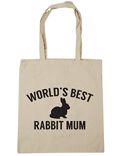 litres Bag Gym Beach mum best Tote World's 42cm 10 Shopping Natural HippoWarehouse x38cm rabbit nwx1a7ZYq8