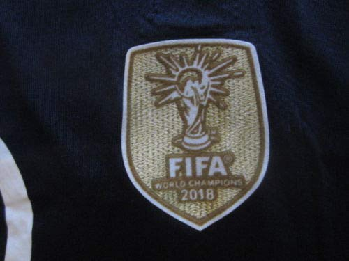 feeb5500358 Amazon.com   VAPORKNIT Paul Pogba  6 France FFF 2 Star 2018 World Cup  Champions Vapor Match Small Blue Home Jersey Patches   Sports   Outdoors