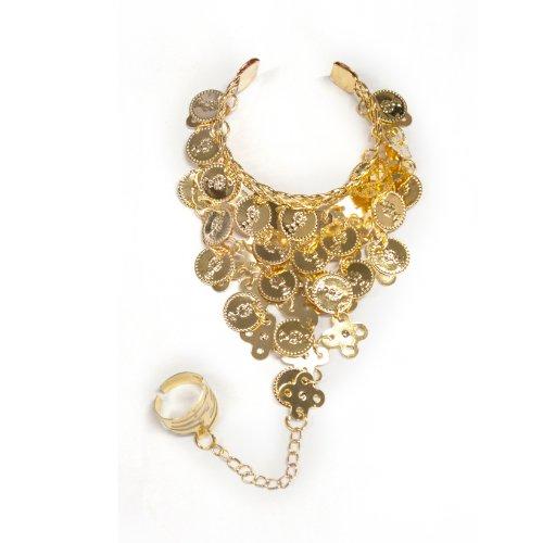 BellyLady Belly Dance Gold Triangle Bracelet Gypsy Jewelry, Gift Idea