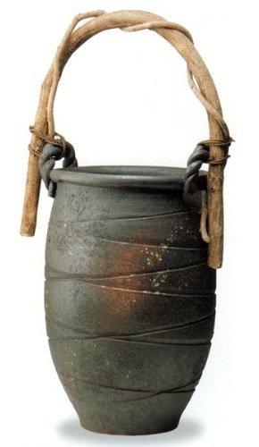 【信楽焼】黒釉彩窯変 花器 花瓶 横幅:35.5cm 奥行:32.5cm 高さ:56cm B01E780LYU