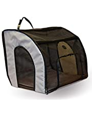 """K&H Pet Products Travel Safety Pet Carrier Small Gray 17"""" x 16"""" x 15"""""""