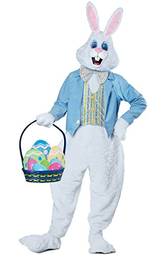California Costumes Men's Deluxe Easter Bunny Costume, White/Blue -