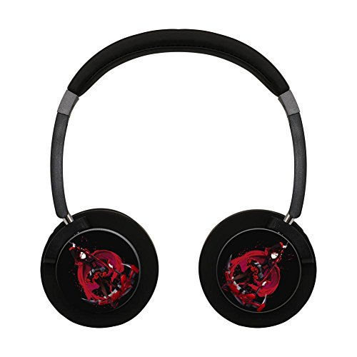 Red_Ruby Rose HIFI Wireless Bluetooth Headset Light Weight Portable Earbuds