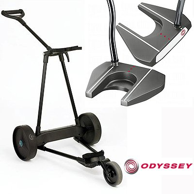 Emotion Trolley Golf.New Emotion E3 23lbs Pull Push Electric Motorized 3 Wheel Golf Cart Trolley New Odyssey Tank 7 Putter