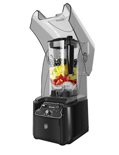 WantJoin-Professional-Commercial-Blender-With-Shield-Quiet-Sound-Enclosure-2200W-Industries-Strong-and-Quiet-Professional-Grade-Power-Self-Cleaning-Black-black