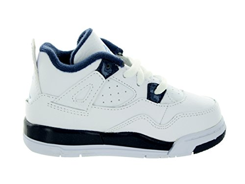 BLACK White Jordan TECH Blue Legend GREY Navy 003 Mdnght 4 Retro LS 707432 Kids BT BLACK Pr0PYwq