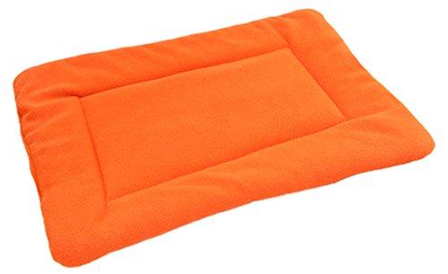 2017 New 4 Size House Durable Cozy Nest Fleece Warm Pet Dog Cat Cushion Pad Mat Comfy Bed (S-35cm45cm, Orange)