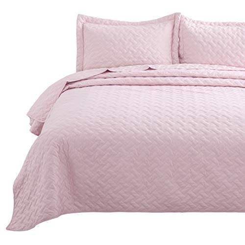 Bedsure 3 Piece Reversible Quilt Set Full/Queen Size (90
