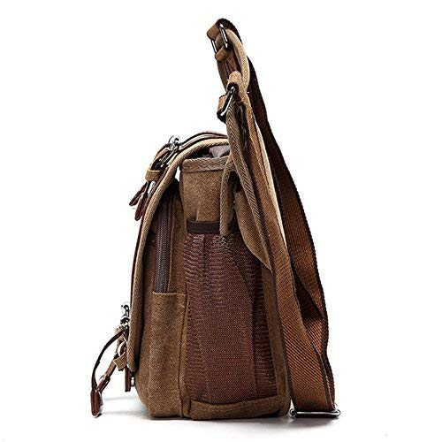 Men Cycling Brown Jamisonme Canvas Bag Retro Crossbody brown Chest Travel 5XwxwHpAqS