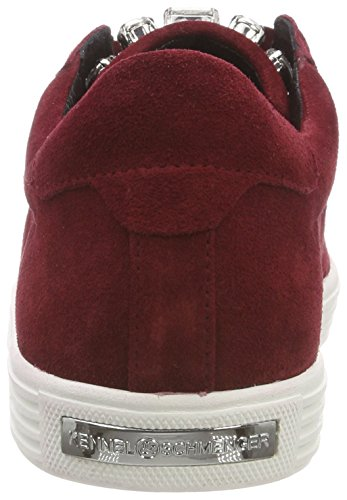 Kennel Zapatillas Sohle Weiss Mujer Town 763 Crystal para und Schmenger Rot Rubino tSwaxqrt4A