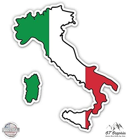 Italian Flag Decal Vinyl Sticker The Flag of Italy Tricolor Bandiera 4 x 2.5 Weatherproof UV Resistant Set of 4 Spy Spot