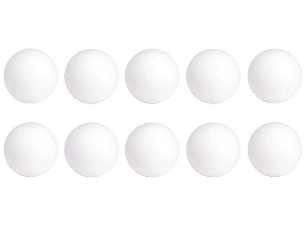 ab_direct_import Lot DE 10 balles Blanches en Plastique babyfoot Ø 35 mm, 19,5 GR