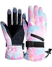 JINXNIN Ski gloves waterproof touch screen ski board gloves, men women winter cold weather warm snow gloves