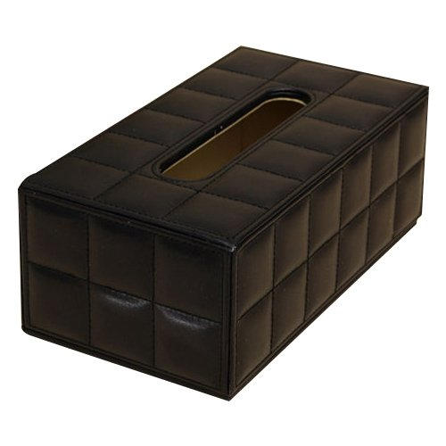 Tissue Box - SODIAL(R) Durable Home Car Rectangle PU Leather Tissue Box Paper Holder Case Cover Napkin black AEQW-WER-AW134457