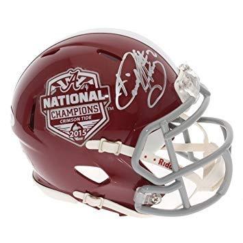 Derrick Henry Autographed Signed Alabama Crimson Tide Commemorative 2015 National Champions Speed Mini Helmet - PSA/DNA Authentic
