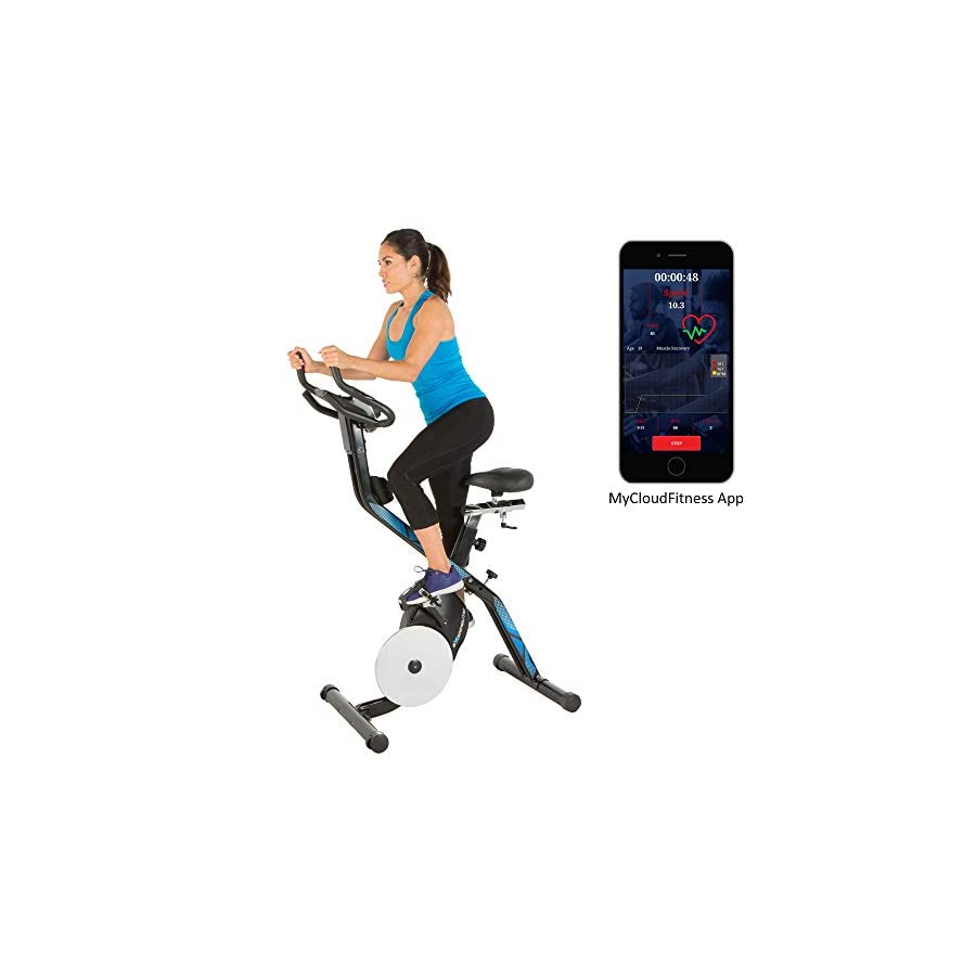 Exerpeutic Lxi 10 Bluetooth Smart Technology Folding Indoor Cycling Exercise Bike