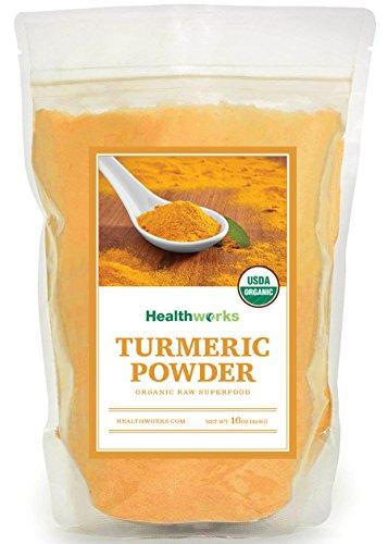 Healthworks Turmeric Root Powder  Curcumin  Organic  1Lb