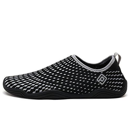 DREAM PAIRS Mens Slip On Athletic Water Shoes Black Grey MtXSA