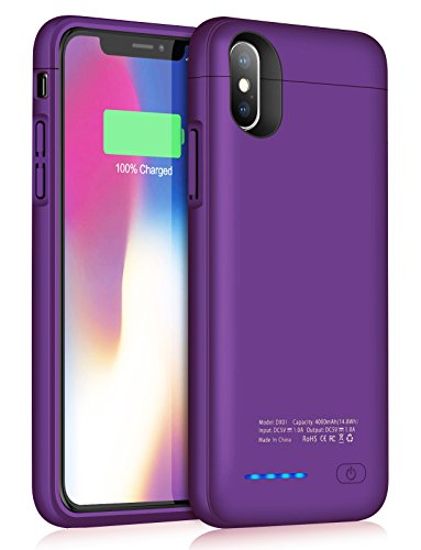 Battery Case for iPhone X/XS/10,JUBOTY 4000mAh Slim Protective Portable Charging case for iPhone X XS Juice Power Bank Battery Charger Case-Build in Magnet(24 Month Warranty)