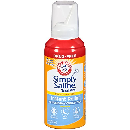 Sinus Saline Spray - Simply Saline Adult Nasal Mist, Original, Giant Size, 4.5 Oz