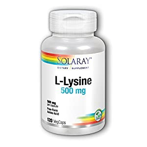 L Lysine by Solaray 120 Capsules