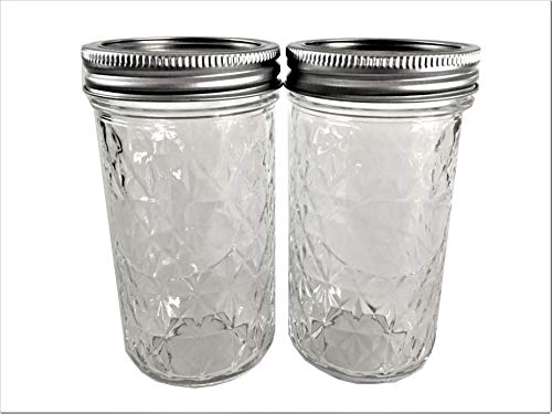 Mason Ball Jelly Jars-12 oz. each - Quilted Crystal Style-Set of - Quilted Ball Crystal Jelly