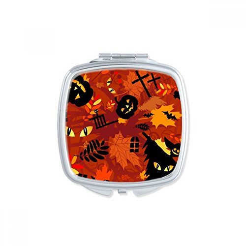 DIYthinker Cartoon Deep Forest Halloween Square Compact Makeup Pocket Mirror Portable Cute Small Hand Mirrors Gift