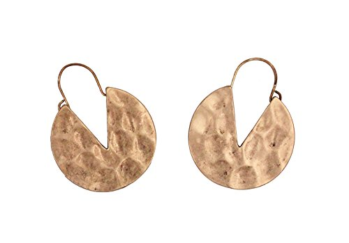 (Cocoa cookie-shaped RetroAlloy Hoop Earrings by HIYOU-Home(kc gold Cocoa cookie))