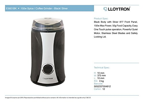 LLOYTRON KitchenPerfected Lloytron 150W Spice/ Coffee Grinder