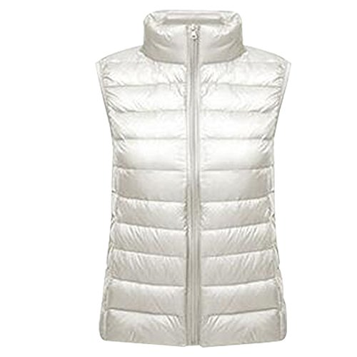 Ladies Senza Bozevon Maniche Scaldamani Gilet Women Bianco Ultralight Girls 1znpqUP