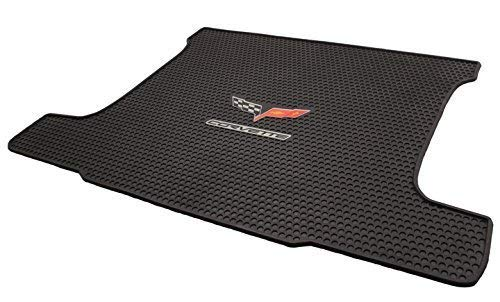 2005-2013 Corvette Coupe All Weather Rubber Trunk Cargo Mat - C6 Crossed Flags Logo