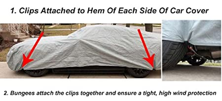 Amazoncom Gust Strap Car Cover Wind Protector  Protect Your Car